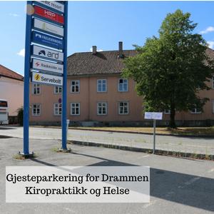 Gjesteparkering Kiropraktor Drammen
