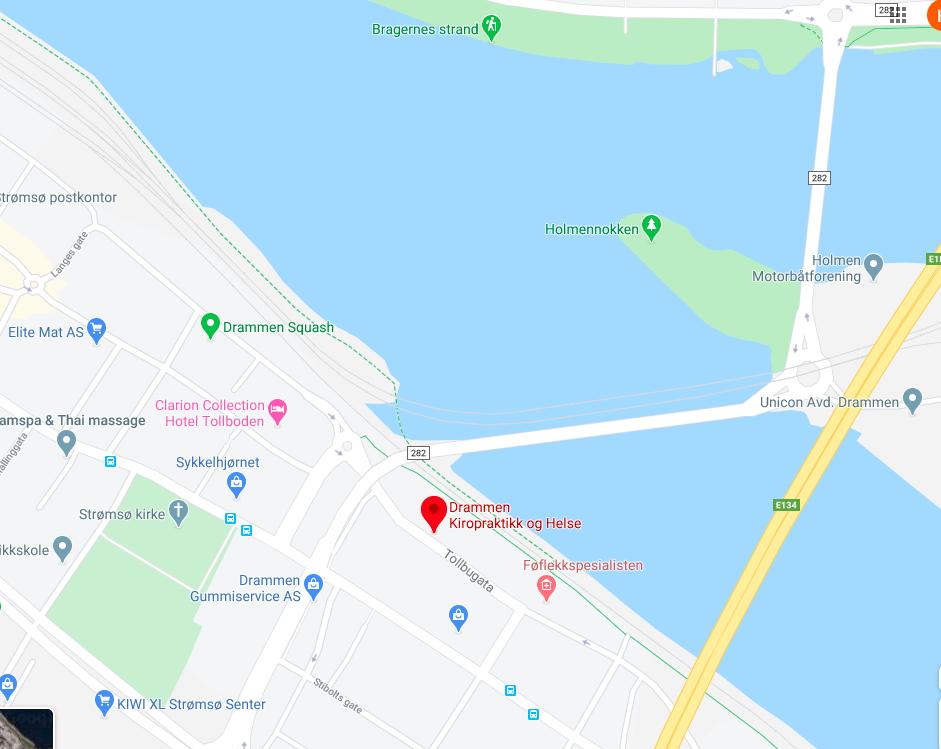 Kart Drammen Kiropraktikk